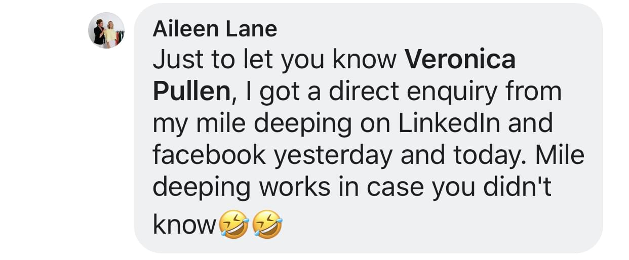 Aileen Lane Feedback Comment