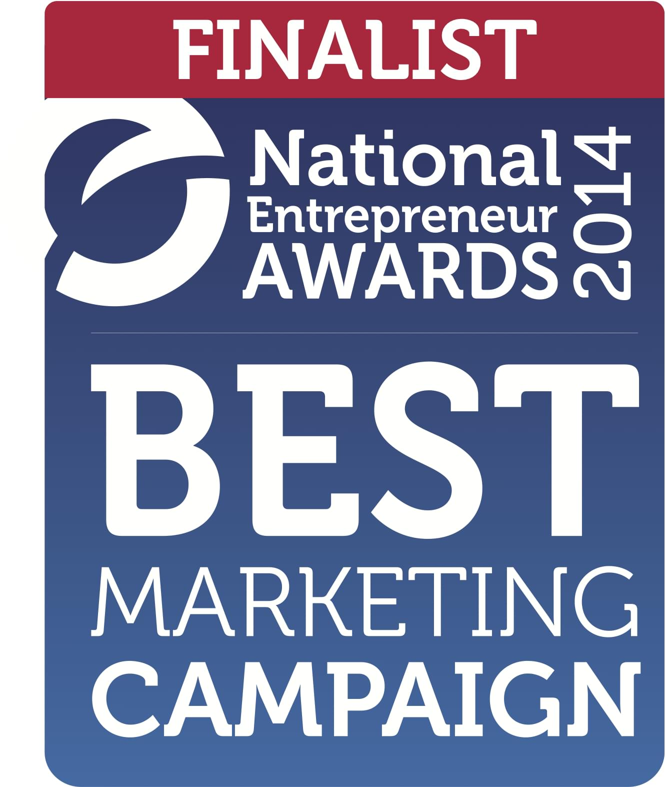 Finalist badge from the National Entrepreneur Awards 2014